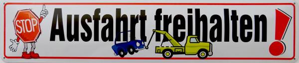 Straßenschild Ausfahrt freihalten (Stop)