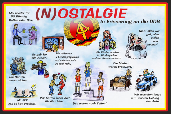 Blechschild (N) Ostalgie