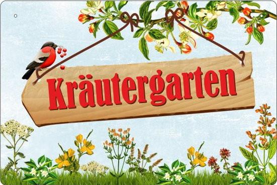 Blechschild Kräutergarten
