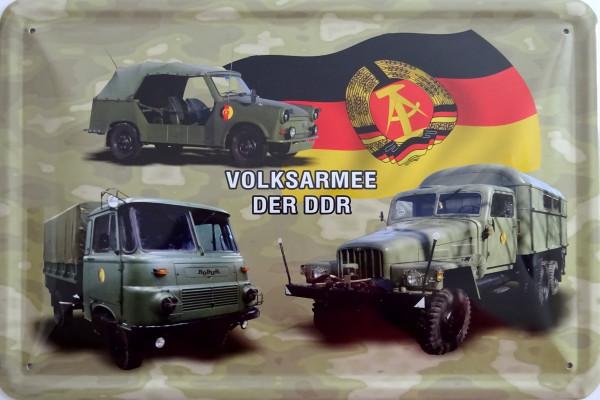 Blechschild Volksamee der DDR