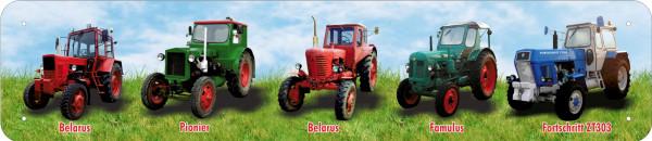 Straßenschild 5er Traktoren Belarus Pionier Belarus Famulus ZT blau