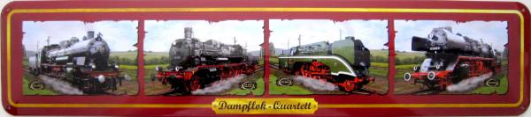 Straßenschild Dampflok-Quartett